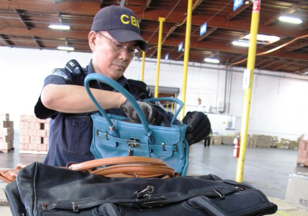 Customs seizure apparel