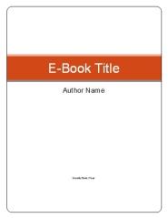 Free E-Book Templates