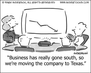 business gone south cartoon