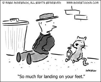 land on your feet during tough times