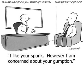 Spunk and gumption - assets in a job interview?