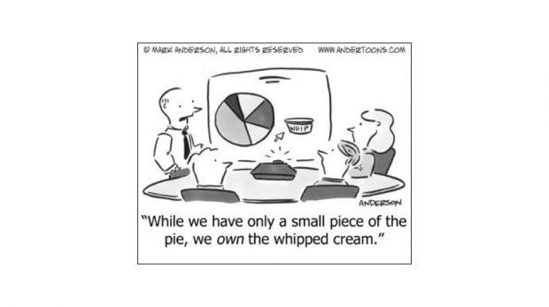 Low market share cartoon - business