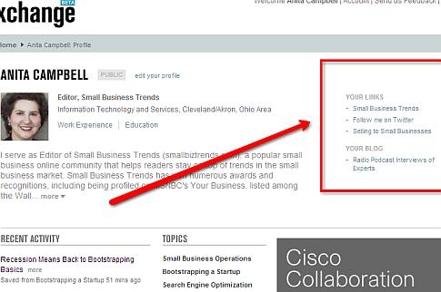BusinessExchange profile