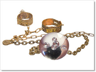 Crystal ball and chain