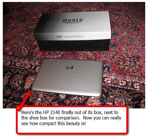 HP 2140 Mini netbook with beautiful brushed aluminum case
