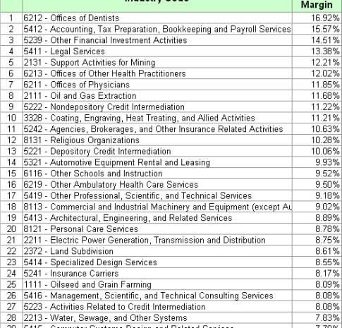 Top 30 Most Profitable Small Businesses During 2008