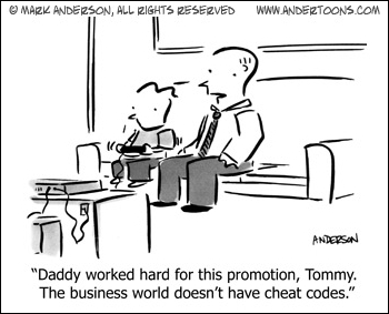 Andertoons: cheat codes in business