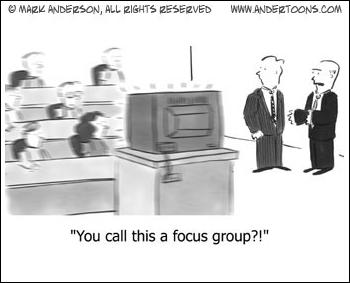 Cartoon about focus groups