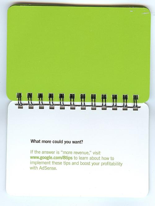 Google Tweak book - call to action