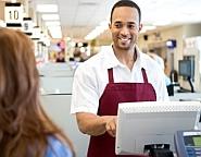 friendly retail clerk