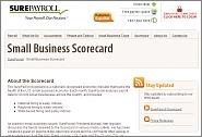 SurePayroll Small Business Scorecard