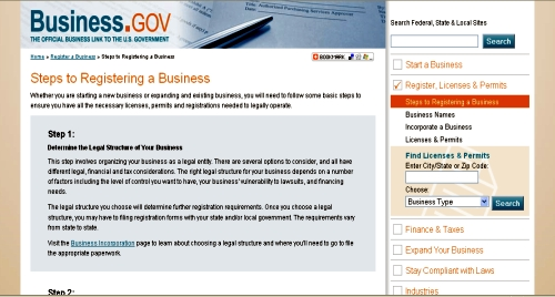 Register a business