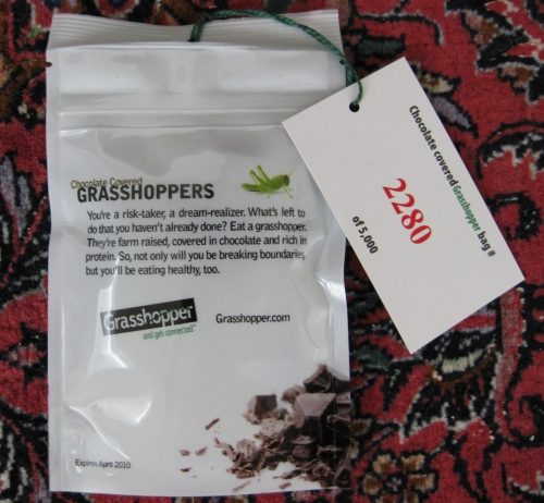 Eat a grasshopper, entrepreneur!