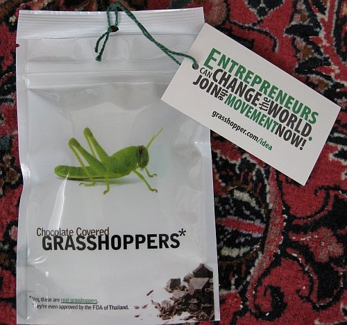Grasshopper rebrand package close-up