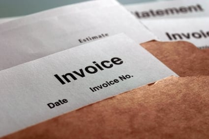 Check for trade credit terms on invoices