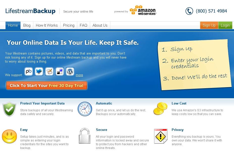 Lifestream Backup