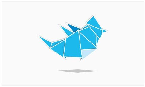 Origami Twitter by IamPaddy.com