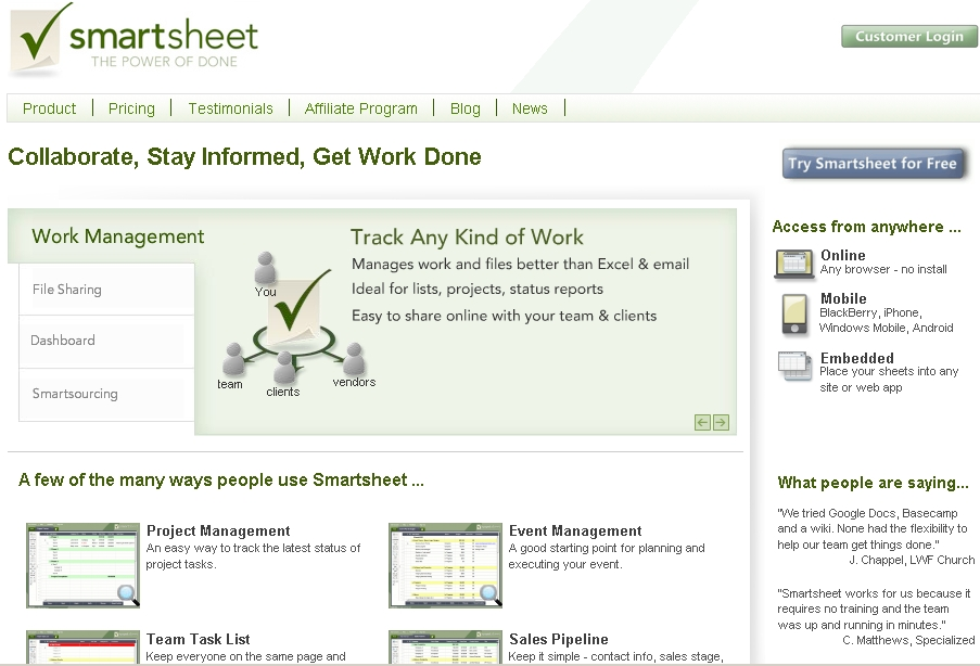 Review of Smartsheet Online Project Collaboration - Small Business