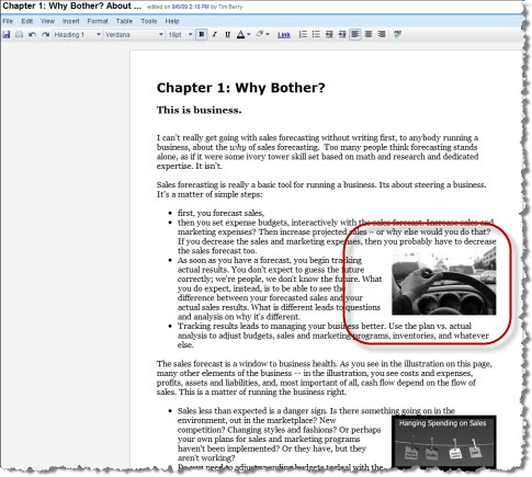 Writing a book using Google Docs - images