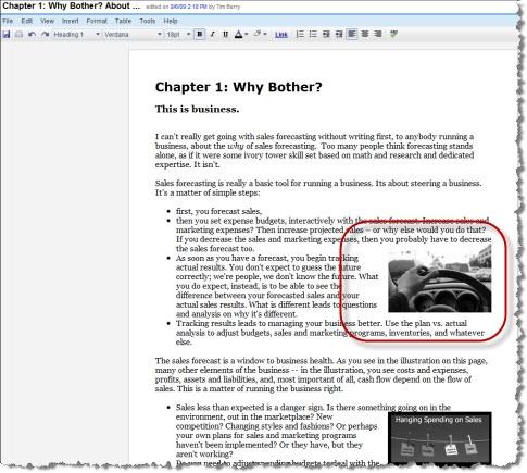 Writing a book using Google Docs - images