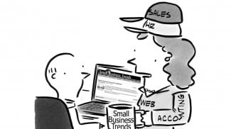 'Wear many hats' business cartoon