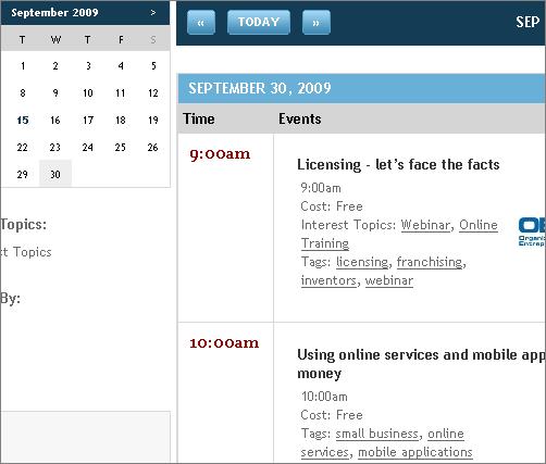 webinarhero calendar view