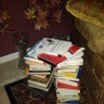 Ivana's pile of books