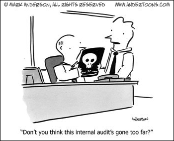 Small Business Cartoon: The Deadly Internal Audit