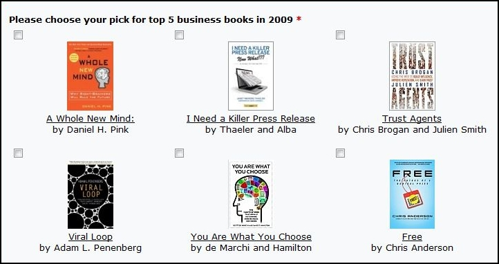 Vote for the Best Small Business Books of 2009