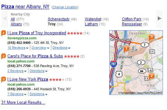 Yahoo Makes its Search Results More Local