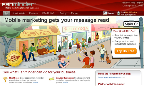 Fanminder: Mobile Marketing Solution for SMBs