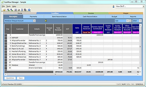 Read this Review of Cashflow Manager