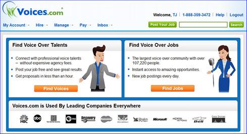 Voiceover talent at Voices.com