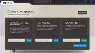 paper.li create custom twitter newspaper