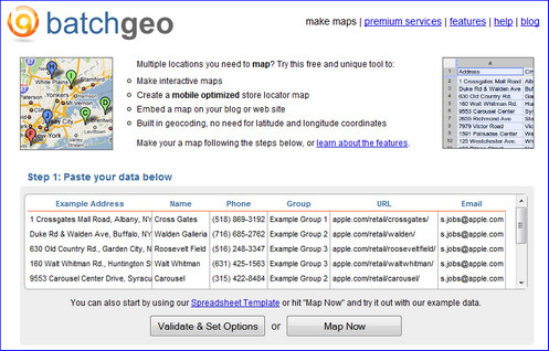 batchgeo mapping tool