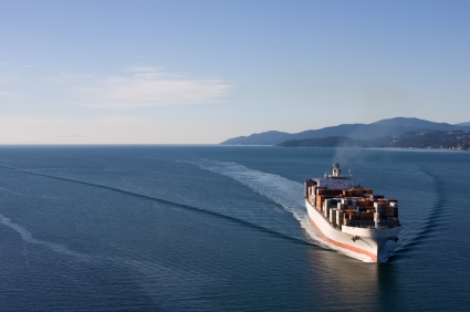 Container ship for global business