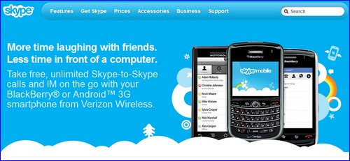 skype mobile website
