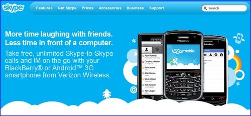 skype mobile website