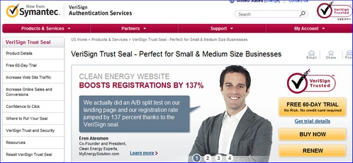 Verisign trust seal can it make a difference in online for Trusted websites for online shopping