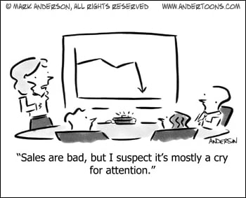 Sales Are Bad: A Cry For Attention?
