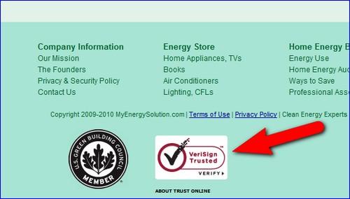 site where I found a verisign trust seal