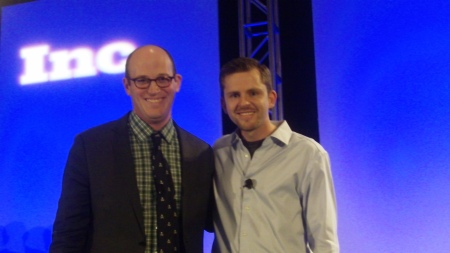 Mike Hofman, Editor of Inc.com, and Chris Guillebeau (l to r)