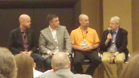 Mike Faith, Steve Kimball, Phil Simon, Bo Burlingham (l to r)