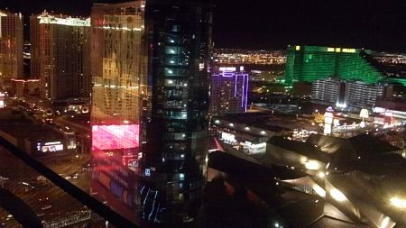 Las Vegas at night from the Cosmopolitan Hotel