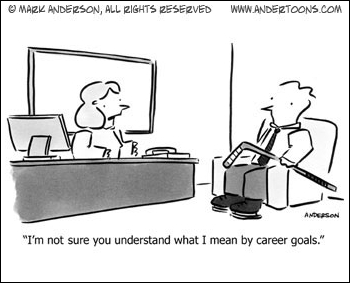 Business Cartoon  What Are Your Career Goals