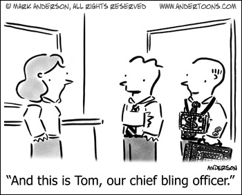 Our Chief Bling Officer