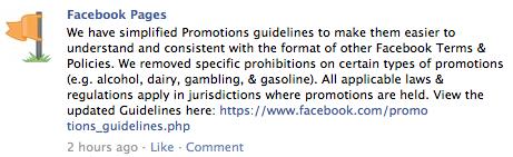 Facebook Simplifies Promo Rules, Shifts Burden