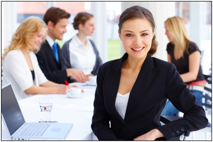 young female executive