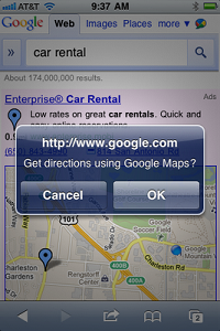 Google to Charge for Directions Location Extension