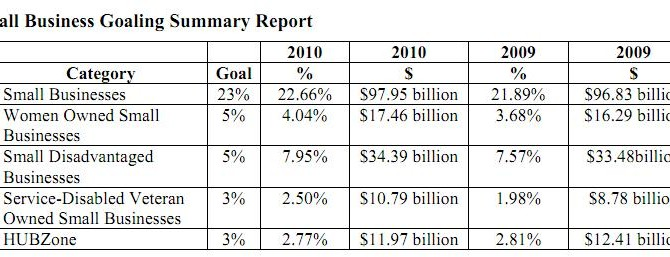 Small Business Goaling Summary Report
